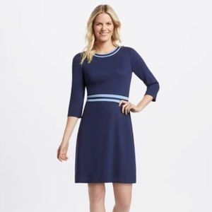 Draper James Navy Ponte Dress L